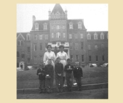 In front of Sacred Heart School, Halifax, NS