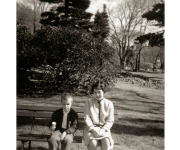1963 with Aunt Mary Tilley at the Public Gardens in Halifax