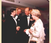 Her Majesty Queen Elizabeth II, The Duke of Edinburgh Prince Philip, and then Canadian Prime Minister Jean Chretien